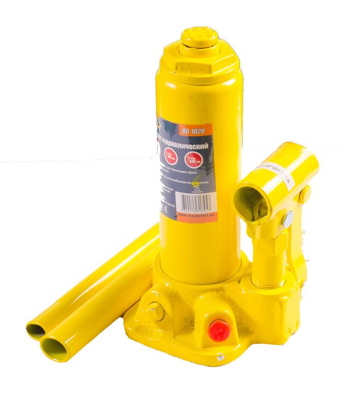 Домкрат гідравлічний пляшковий Висота 181-345 мм. Mastertool (86-1020)