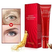 Кремы для лица Bioaqua Крем для кожи вокруг глаз BIOAQUA Snails & Red Ginseng с экстрактом улитки и красного