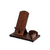 Деревянная подставка-органайзер для телефона Comfort lux (венге)