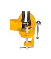 Мини тиски слесарные поворотные 50 мм Mastertool (07-0201)