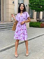Летнее платье свободного кроя с воротником на запах, фото 1