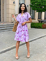 Літня сукня вільного крою з коміром на запах, фото 1