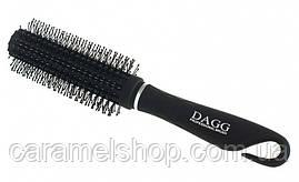 Масажна щітка для волосся Dagg 9812АА кругла чорний діаметр 5 см