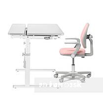 Комплект для девочки парта-трансформер Fundesk Colore Grey + эргономичное кресло Fundesk Mente Pink, фото 3
