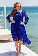 Нарядное женское кружевное платье (большие размеры), фото 1