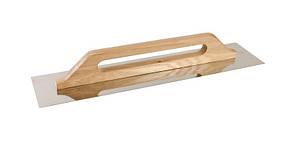 Терка нержавеющая 125*580 мм, с деревянной (бук) ручкой Mastertool (08-3600)