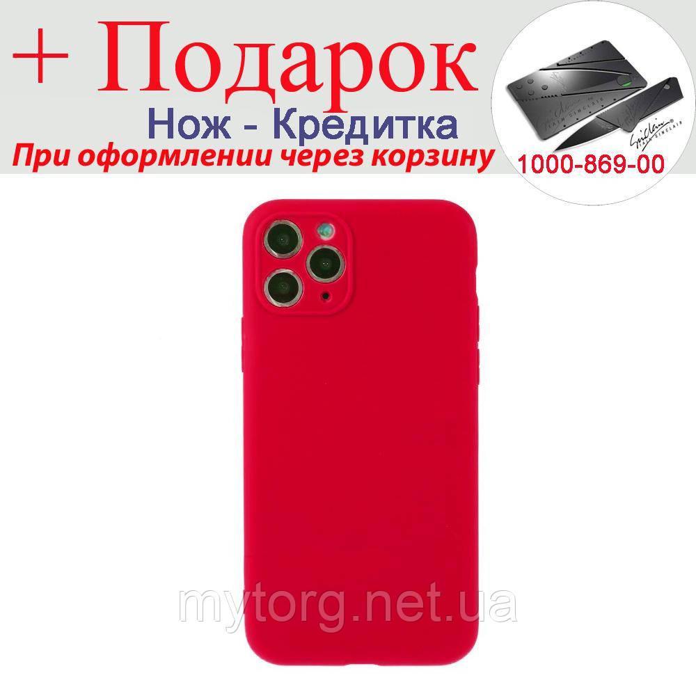 Чехол накладка для iPhone 11 Pro силиконовая iPhone 11 Pro Красный