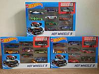 Подарочный набор машинок Хот Вилс 9 шт Hot Wheels 9 car