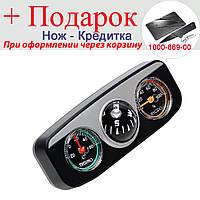 Автомобильный компас, термометр, гигрометр Elite 3 в 1, фото 1