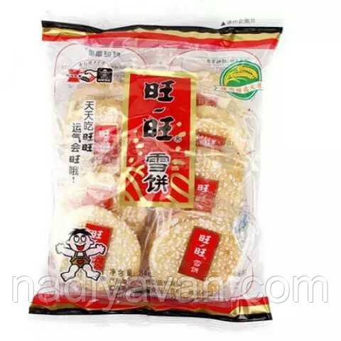 Want Want рисове печиво з цукровою глазур'ю 84g
