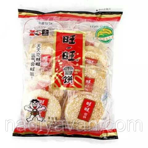 Want Want рисовое печенье с сахарной глазурью 84g