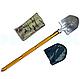 Лопата багатофункціональна туристична Milcraft Сталь/алюміній, Золото, Мотика, ніж-пила, гайковер, сокира, фото 3