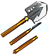 Лопата багатофункціональна туристична Milcraft Сталь/алюміній, Золото, Мотика, ніж-пила, гайковер, сокира, фото 5