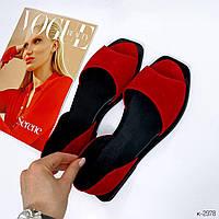Стильные женские замшевые босоножки красные без каблука. Балетки открытые замшевые натуральные бежевые новинка