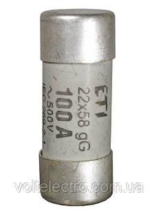 Предохранители цилиндрические CH 22 x 58 gG,  80A  500V