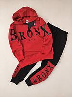 Спортивний костюм BRONX Червоний/чорний двунить 90% бавовна S
