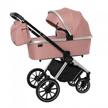 Универсальная коляска 3 в 1 Carello Optima CRL-6504 Hot Pink Текстиль лен Сумка для мамы