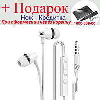 Дротяна стерео гарнітура langsdom Headphon AU18 3.5 мм для мобільного телефону Samsung Lenovo Xiaomi IPhone, фото 1
