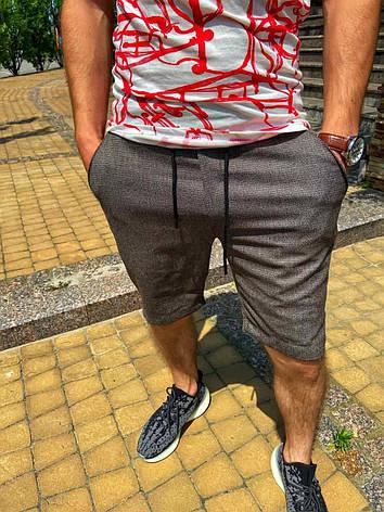 Чоловічі сірі трикотажні шорти за коліно, Туреччина, фото 2