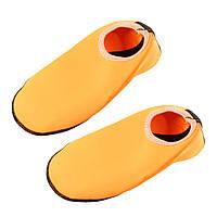 Тапочки для пляжа и бассейна, ярко-оранжевый (женские, подростковые 36-39)