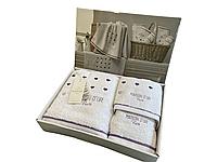 Набор полотенец Maison D'or Candy White Lilac махровые 32-50 см,50-90 см,70-140 см белые