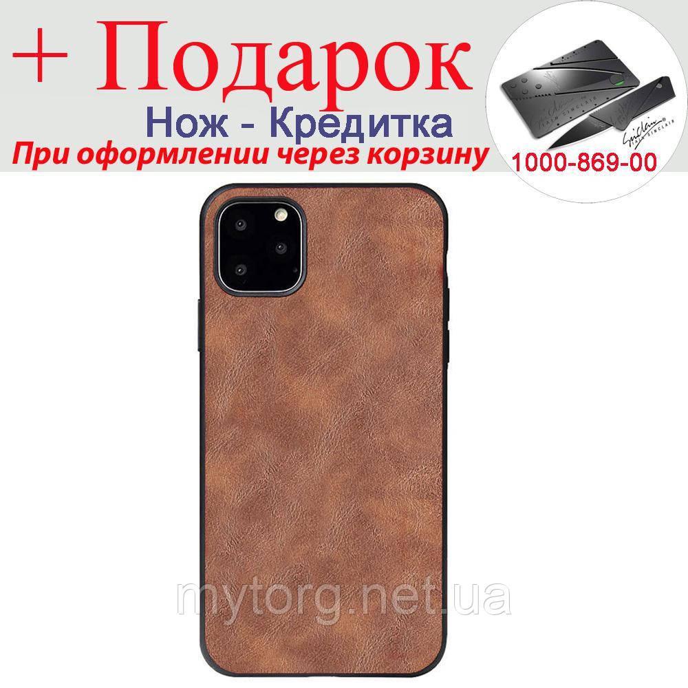 Чехол X Level для iPhone 11 из искусственной кожи с силиконовым краем iPhone 11 Коричневый