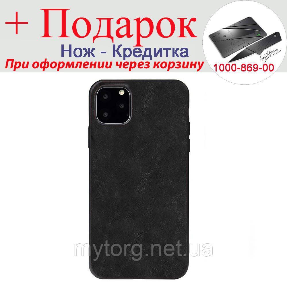 Чехол X Level для iPhone 11 из искусственной кожи с силиконовым краем iPhone 11 Черный