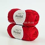 Пряжа DROPS Muskat (колір 12 red), фото 2