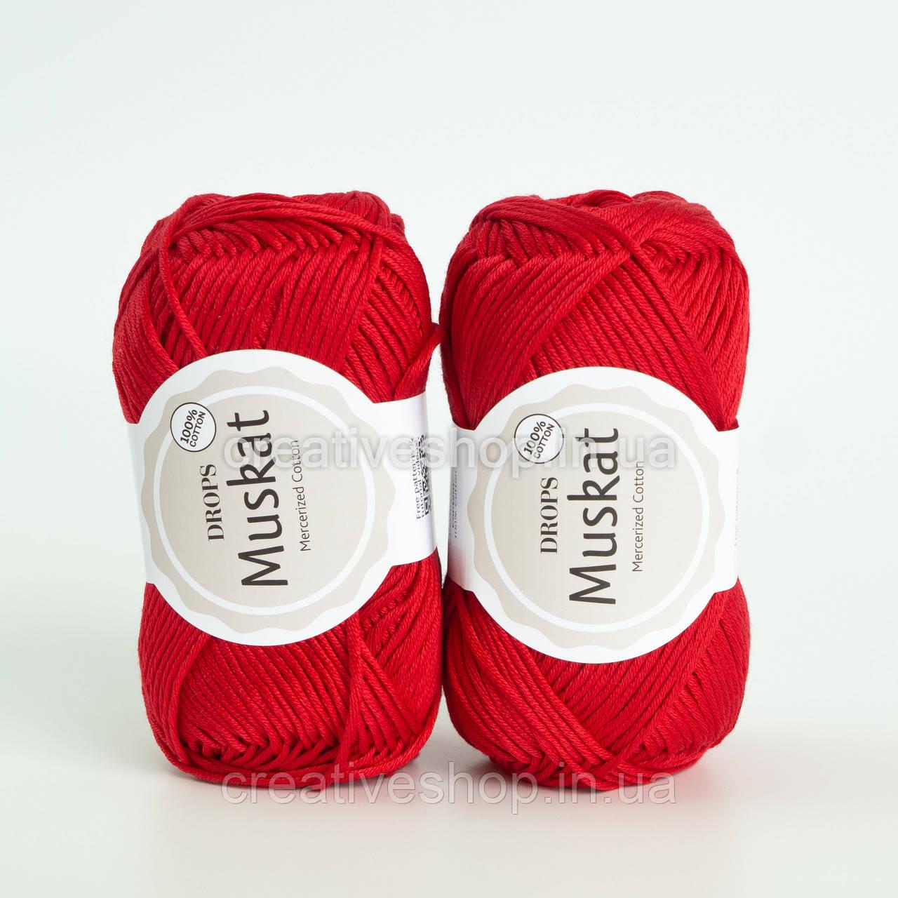 Пряжа DROPS Muskat (колір 12 red)