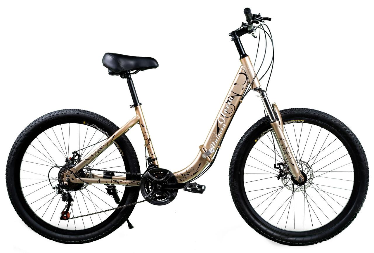 """Складной велосипед Unicorn - Gloria 26"""" размер рамы 16"""" Золотой"""