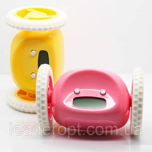 Тікає будильник на коліщатках тікають годинник Будильник Clocky Run ОПТ різні кольори