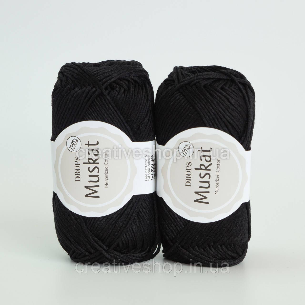 Пряжа DROPS Muskat (колір 17 black)