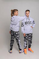 Спортивний костюм BRONX  Білий/камуфляж Двухнить 90% бавовна, фото 1