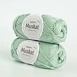 Пряжа DROPS Muskat (колір 20 light mint), фото 2