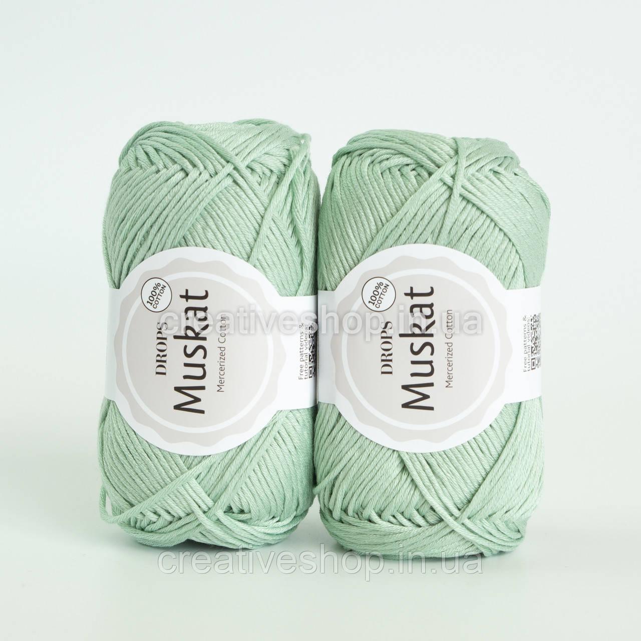 Пряжа DROPS Muskat (колір 20 light mint)
