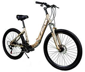 """Складаний велосипед Unicorn - Gloria 26"""" розмір рами 16"""" Золотий"""