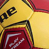 Мяч для гандбола CORE PLAY STREAM CRH-049-2 (PU, р-р 2, сшит вручную, желтый-красный), фото 3