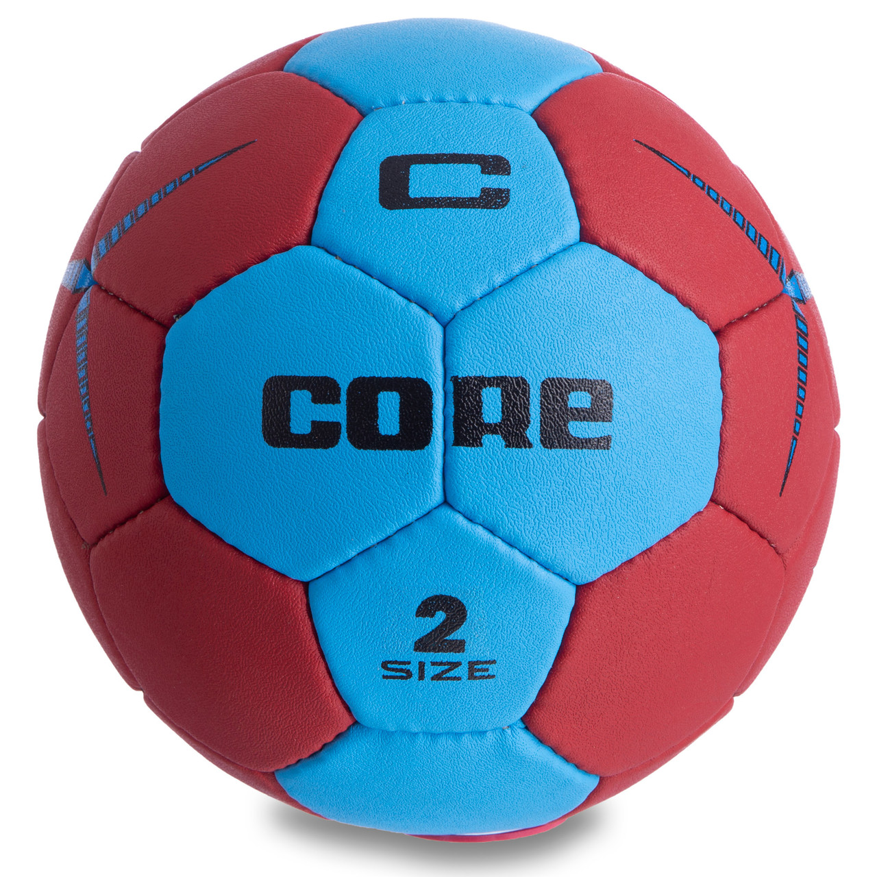 Мяч для гандбола CORE PLAY STREAM CRH-050-2 (PU, р-р 2, сшит вручную, синий-красный)