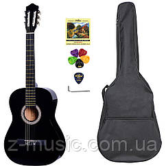 Гитара классическая 4/4 Olive Tree CG-39 BK (чехол, медиатор, копилка, струна, ключ)