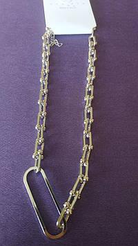 Современная цепь. Элитная позолоченная бижутерия оптом. 44