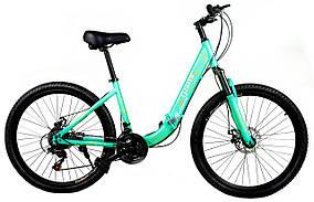 """Складаний велосипед Unicorn - Gloria 26"""" розмір рами 16"""" бірюзовий"""