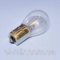 Лампочка автомобільна 12V 21W BA15S прозора Vipow ZAR0167