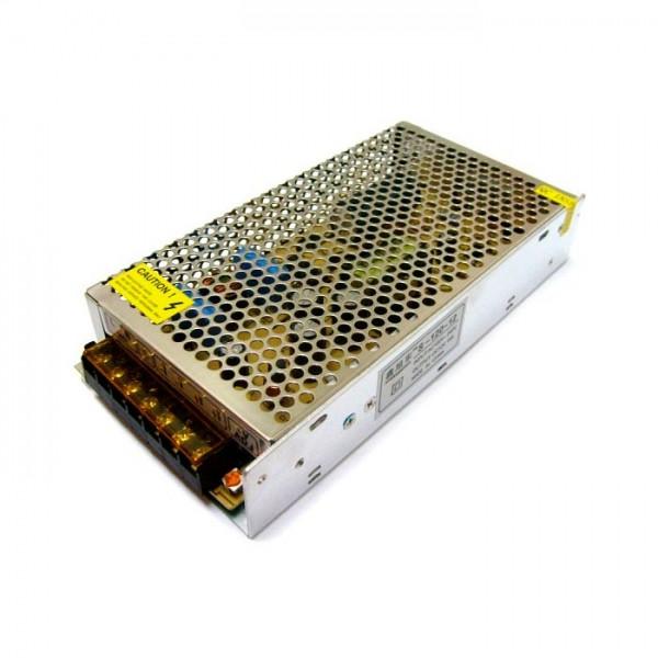 Блок живлення S-120-12 12V 10A, стабілізований імпульсний адаптер, металевий корпус.