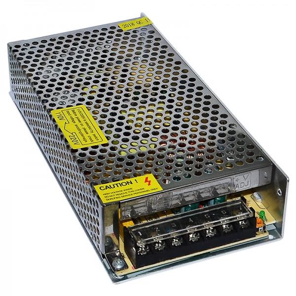 Блок живлення стабілізований імпульсний адаптер) металевий 12V 15A 180W, S-180-12