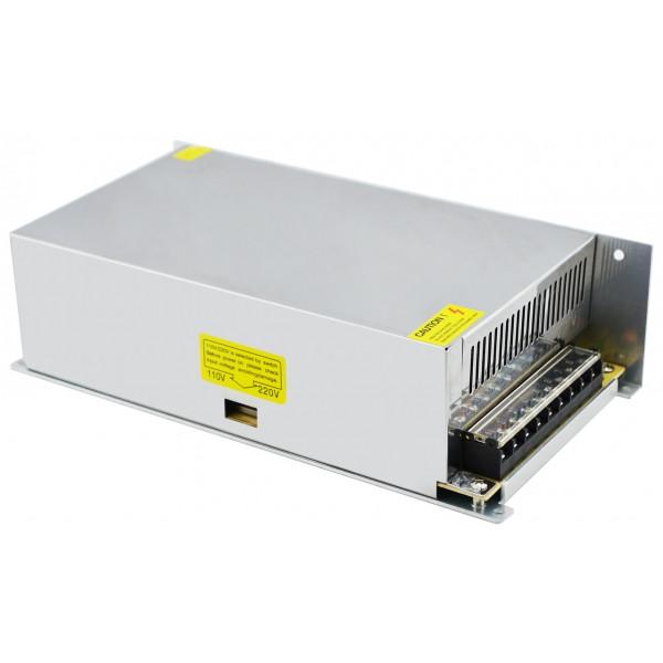 Блок живлення металевий (стабілізований імпульсний адаптер) 12V 50A 600W, MHZ S-600-12
