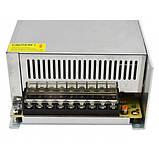 Блок питания 12V 50A 600W, металлический стабилизированный импульсный адаптер MHZ S-600-12, фото 4
