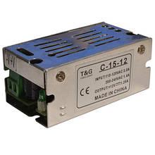 Блок питания 12V 1A 12W, металлический стабилизированный импульсный адаптер C-12-12
