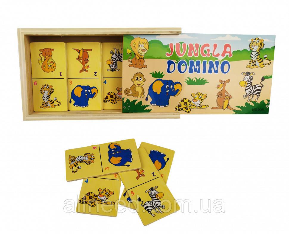 Детское домино MD 2198 деревянное (Джунгли)