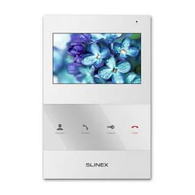 Домофон с камерой Slinex SQ-04. Видеодомофон белый в квартиру без трубки