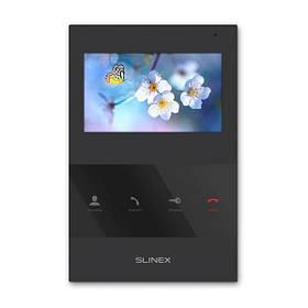 Домофон с камерой Slinex SQ-04. Видеодомофон черный в квартиру без трубки